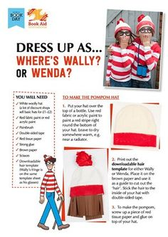 "Dress Up as ""Where's Wally"" - World Book Day DIY costume idea! Book Characters Dress Up, Character Dress Up, Character Costumes, World Book Day Costumes, Book Week Costume, Great Costume Ideas, Cool Costumes, Halloween Costumes, Character Day Ideas"