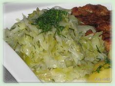 Domowa kuchnia Aniki: Duszona młoda kapusta zasmażana z koperkiem