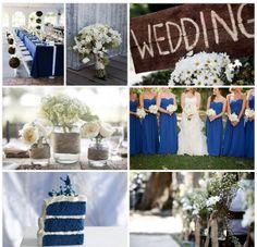 Rustic royal blue wedding.