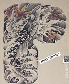 Koi Tattoo Design, Japan Tattoo Design, Japanese Tattoo Designs, Japanese Tattoo Art, Tattoo Japonais, Tricep Tattoos, Buddha Artwork, C Tattoo, Snake Design