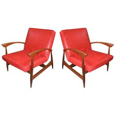 Pair of 1960s Brazilian Caviuna Armchairs | From a unique collection of antique and modern lounge chairs at https://www.1stdibs.com/furniture/seating/lounge-chairs/