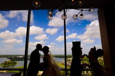 A few famous silhouettes made an appearance at this Walt Disney World wedding. Photo: Stephanie at Disney Fine Art Photography