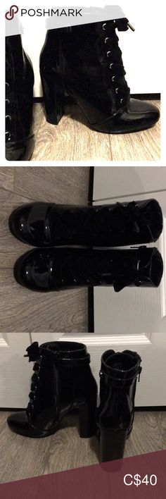 Boots Size US Never worn Black shiny leather Call it spring Call It Spring Shoes Ankle Boots & Booties Bootie Boots, Ankle Boots, Spring Shoes, Wearing Black, All Black Sneakers, Fashion Tips, Fashion Trends, Booty, Best Deals