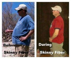 """Lisa says: """"This is my Husband, time frame was 3 months lost 25 lbs and Lowered his Blood Pressure due to weight loss..He is on Blood Pressure Meds and Blood Pressure was still high until he lost the weight then it came down..."""" More than just a weight loss product.  Skinny Fiber is 100% natural, absolutely no stimulants or chemicals. It first starts by preparing your body for weight loss. Detoxif...ying the body and providing necessary enzymes that help us breakdown the foods we eat and aid…"""