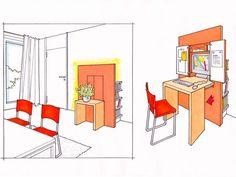 Sideboard mit integriertem Office
