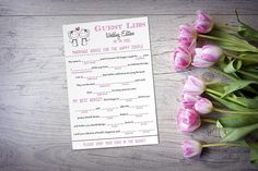 "Same Sex Wedding Mad Lib Guest Libs, Wedding Game Printable ""Sketch Couple"" LGBT Wedding Guestbook Alternative, Lesbian Wedding ANY Color"