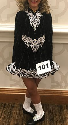 Adorable Black ID Costume Design Irish Dance Dress Solo Costume For Sale
