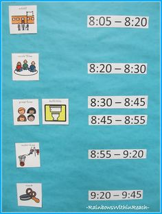 Visual Schedule for Children with Special Needs