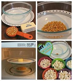 DIY Bags of Microwave Popcorn!  Easy, healthier, and faster than the boxed brands! Popcorn Kernels, Popcorn Bags, Pop Popcorn, Butter Popcorn, Popcorn Snacks, Popcorn Recipes, Homemade Popcorn, Snack Recipes, Kitchen Recipes