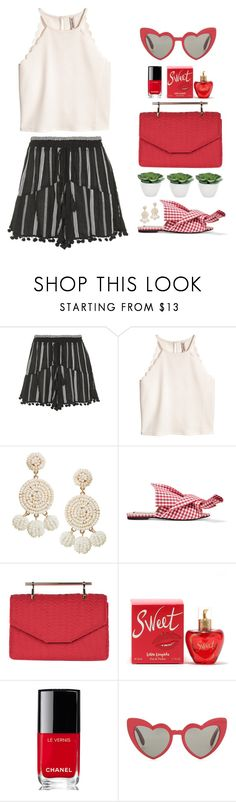 """Sweet Pom Pom"" by catchsomeraes on Polyvore featuring Topshop, Humble Chic, N°21, M2Malletier, Lolita Lempicka, Chanel, Yves Saint Laurent, Torre & Tagus, gingham and pompom"