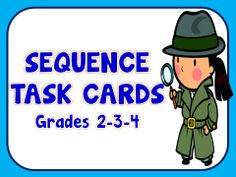 FREEBIE!!! Searching for Numbers with Darcy the Detective is a set of 52 task cards...sequencing activity. A sequence of numbers with one number missing is on each card...student determines the missing number...grades 2-3-4