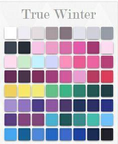 winter color palette - Google Search