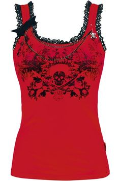 Lace Skull Top - Queen Of Darkness