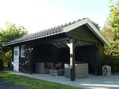 Colors & width of siding & trim Outdoor Rooms, Outdoor Gardens, Outdoor Living, Outdoor Decor, Shed Design, Patio Design, Garden Design, Pergola, Beton Design
