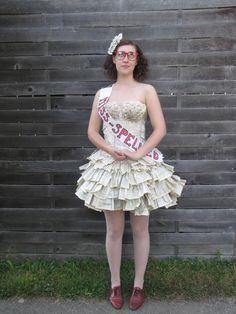 Dress made out of book pages! Book Dress - Imgur