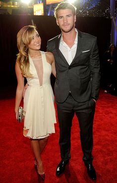 Miley Cyrus and Liam Hemsworth at the People's Choice Awards in Los Angeles on January 11, 2012-such a cute pic