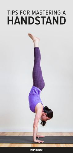 8 moves to help you learn how to do a handstand.