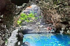 Jameos Del Agua in Lanzarote, Spain Tenerife, Places To Travel, Places To Go, Hiking Tours, Canary Islands, Beautiful Places To Visit, Spain Travel, Day Trip, Travel Pictures