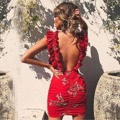 Flower Print Slim Mini Dress Night Club Party Hot Sell