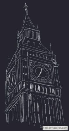 Discover recipes, home ideas, style inspiration and other ideas to try. Big Ben Tattoo, Big Ben London, London Drawing, Don G, Big Ben Clock, Outline, A Level Art, London Photography, Easy Drawings