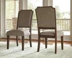 Larrenton Upholstered Side Chair Formal Dining RoomsDining