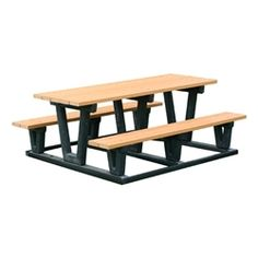 Lenexa Recycled Plastic Picnic Table Pictures