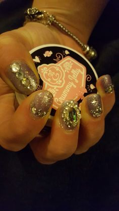 Blingtastic. Glitter nails never seemed so much fun. Gel polish rules