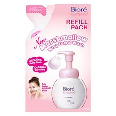 Biore Marshmallow Whip Facial Wash Refill 130 Ml. Product of Thailand by Nivea. $16.99. Biore Marshmallow Whip Facial Wash Refill 130 ml (for baby smooth skin - ultra fine fluffy foam with collagen enriched)    Product type: Unisex's facial foam   Brand: Biore   Usage :  1. Pump appropriate amount of foam (1-2 pumps) onto palm and massage onto wet face 2. Rinse thoroughly with water 3. Avoid pumping in excessively wet conditions.   Ingredients:  Water (Aqua), Sorbitol, PEG-150, ...