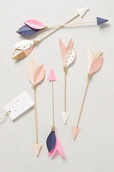 Ornamental arrows for decorations or setting the table. These are easily customizable and super cute.