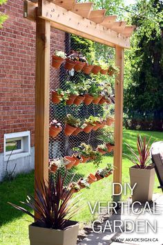 How to Build Your Own DIY Vertical Garden Wall - http://akadesign.ca/diy-vertical-garden/