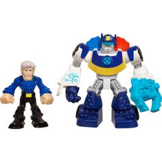 Playskool Heroes Transformers Rescue Bots Energize Chase the Police-Bot & Chief Charlie Burns 2-Pack