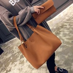 """HOT PRICES FROM ALI - Buy """" new casual female tote composite handbag ladies pack hotsale simple large capacity fresh women shoulder bag"""" for only USD. Satchel Handbags, Purses And Handbags, Ladies Handbags, Womens Purses, Shoulder Handbags, Shoulder Bags, Tote Purse, Crossbody Bags, Leather Wallet"""