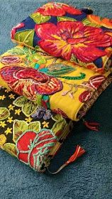 with brazilian Chita fabric.clutches with brazilian Chita fabric. Hungarian Embroidery, Embroidery Applique, Cross Stitch Embroidery, Embroidery Patterns, Indian Embroidery, Crochet Patterns, Fabric Art, Fabric Crafts, Sewing Crafts