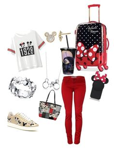 """""""Going to Disneyland"""" by gianna-rae ❤ liked on Polyvore featuring beauty, Uniqlo, Disney, Belk Silverworks, MOA Master of Arts, The Bradford Exchange and Kate Spade"""