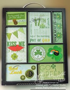St Patrick's Day printer tray inserts with MDS using My Digital Studio from Stampin Up
