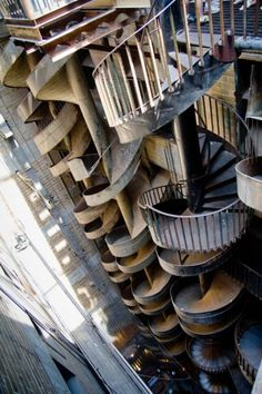 Stairs on cloud.....! And there...WHO...  City Museum: Abandoned Warehouse Full of Caves, Rides & Slides | Urbanist