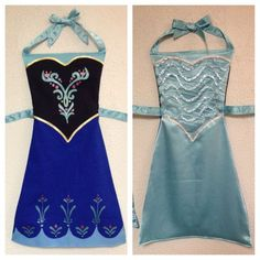 Frozen Anna and Elsa Reversible DressUp Apron by ReversibleRoyalty