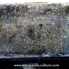 Castles of Ireland- the Butler family crest carved into a fireplace at the Ormond Castle, Carrick on Suir, Tipperary, Ireland. Click on the photo to read the unusual love story behind this beautiful castle.