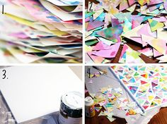 Such a great idea for making collaborative art with the kids.