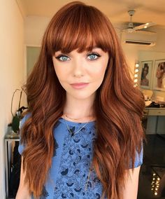 Copper Red Hair Color and Hairstyles Long Curly Hair color copper hair hairstyles Red Red Copper Hair Color, Hair Color Auburn, Hair Color And Cut, Auburn Hair Copper, Coper Hair Color, Color Red, Copper Hair Highlights, Fall Auburn Hair, Short Copper Hair