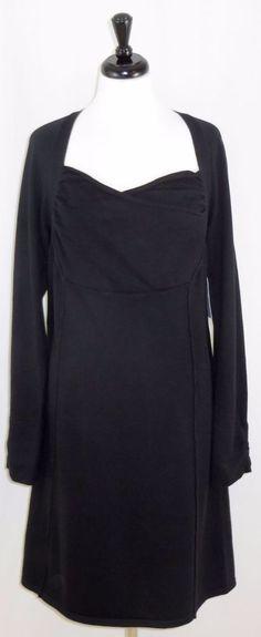 Athleta Black Sweater Dress Hot Toddy Long Sleeve Cotton Blend Size 1X #Athleta #SweaterDress #WeartoWork