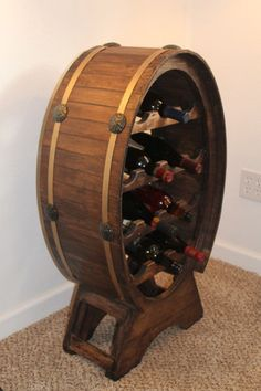 wine barrel shaped wine cabinet