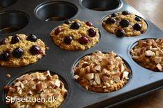 Jeg er glad! Mine bagte havregrøds muffins er bare gode :-) De har en god konsistens og en skøn smag! De smager skønt både lune og kolde, og er perfekte til morgenmad på farten, madpakken, eller so… Baking Recipes, Snack Recipes, Danish Food, Healthy Baking, Food Inspiration, Love Food, Kids Meals, Tapas, Brunch
