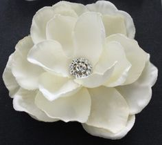 Hey, I found this really awesome Etsy listing at http://www.etsy.com/listing/58805904/ivory-gardenia-hair-flower-clip-wedding