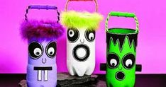 Do not spend too much to amuse your kids in Halloween, you can … - Crafts For Toddlers Porche Halloween, Dulceros Halloween, Halloween Arts And Crafts, Halloween Projects, Holidays Halloween, Halloween Decorations, Bricolage Halloween, Manualidades Halloween, Bottle Cap Crafts