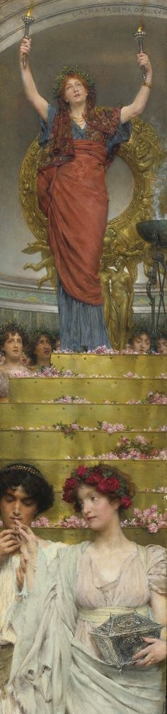 Sir Lawrence Alma-Tadema (British, 1836-1912) - The Benediction