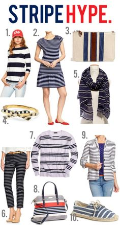 jillgg's good life (for less) | a style blog: 10 new striped styles you are sure to love!