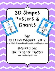 Free 3D shapes posters & chants