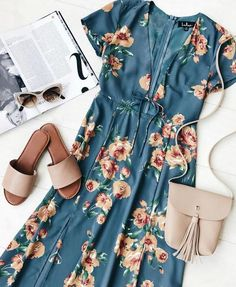 Lulus Exclusive! The Best Day of My Life Dusty Sage Floral Print Midi Dress makes any day a great one! Use Code: Take15 for $15 off order of $150 or more + Free Shipping!