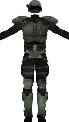 Fallout combat armor. From http://www.writeups.org/vault-dweller-fallout-2/
